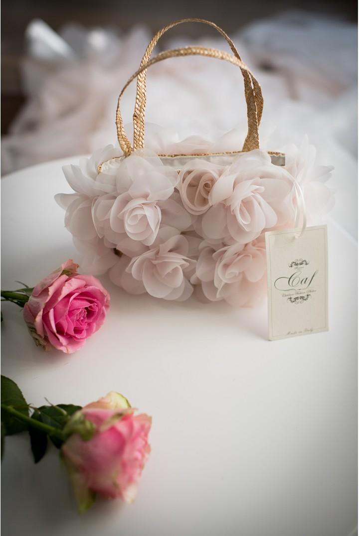 borsa fiori rosa
