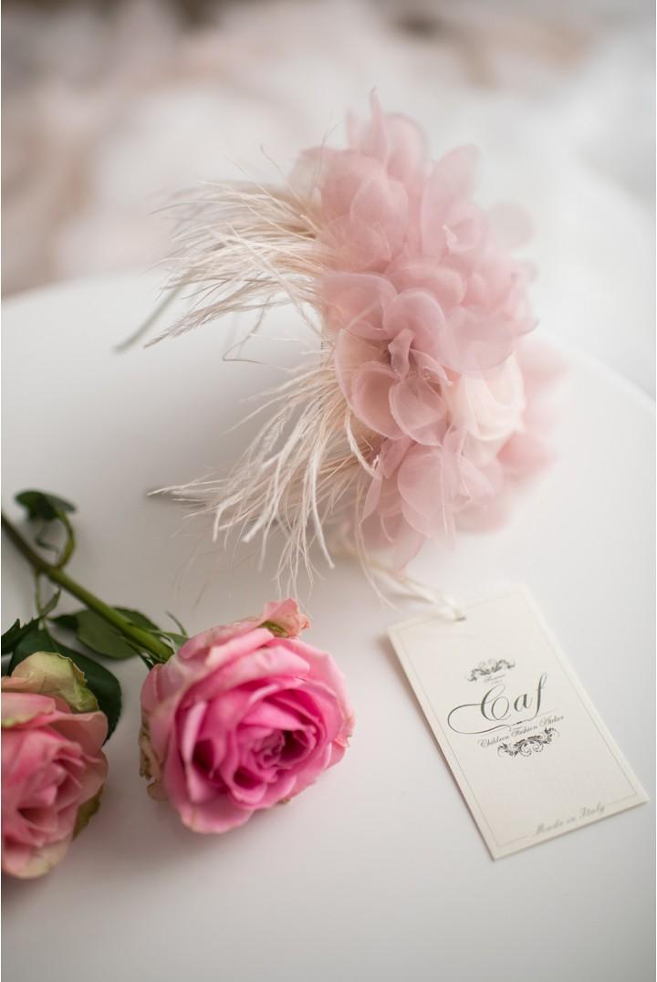 cerchietto fiori rosa