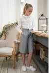 Gray Gaucho Pants
