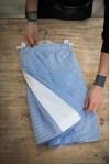 Navy Stripes Gaucho Pants