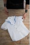 Camicia Ruches Celeste