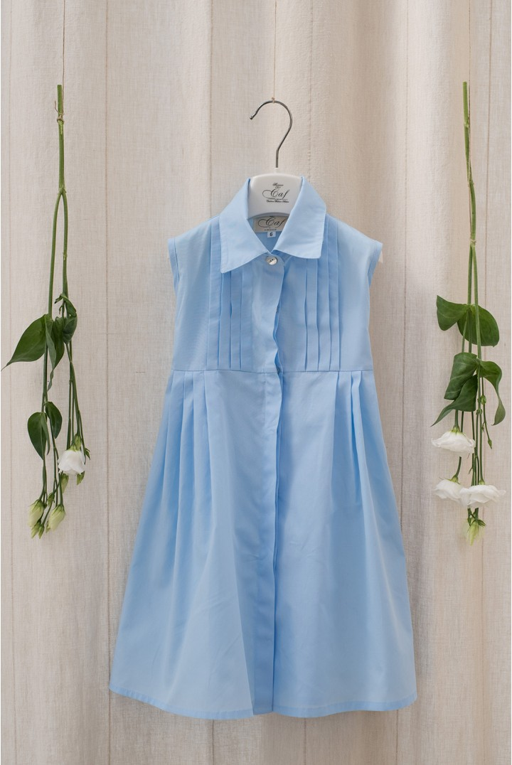 Light Blue Pleated Chemisier