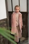 cappotto classico rosa