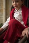 Camicia Rouches Bordeaux